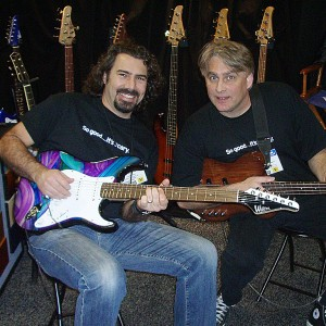 05 John Cross and Paul E Tone jammins at NAMM