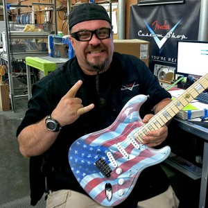 17 Visiting Fred Connor at the Fender Custom Shop